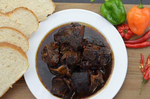 Guyanese pepperpot a traditional Christmas dish.