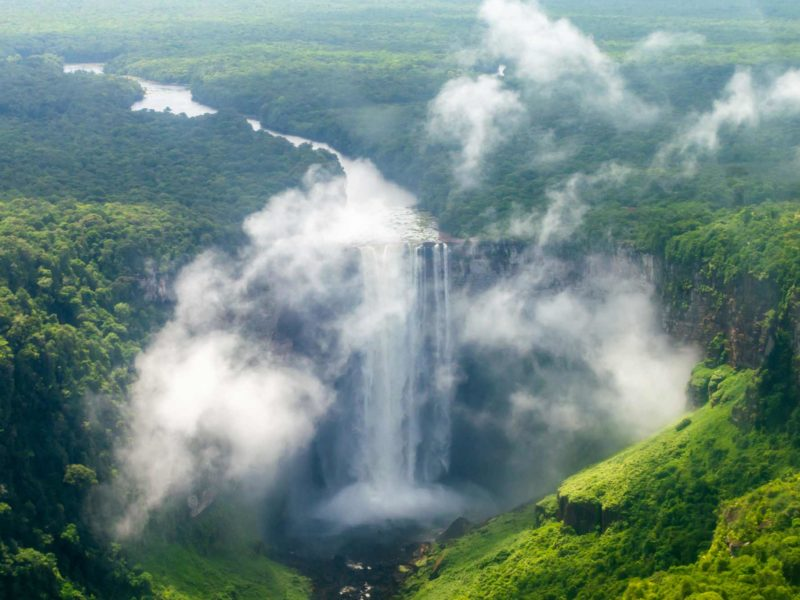 Guyana tourist attractions: Kaieteur Falls is one of the world's most spectacular waterfalls.